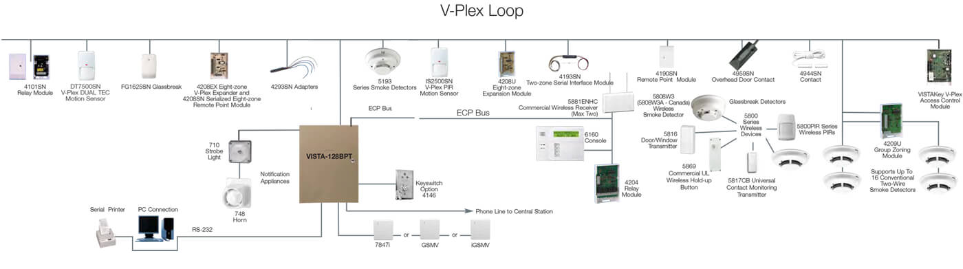 commercial security v-plex loop system